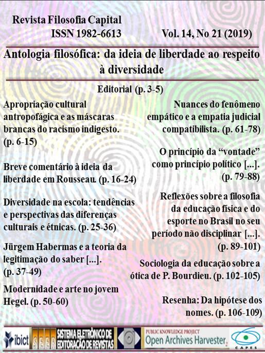 Revista Filosofia Capital - ISSN 1982-6613
